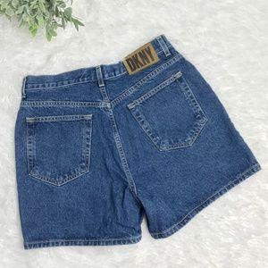 DKNY High Waisted Jean Shorts Size 14
